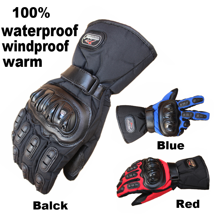Гаджет  Mad-biker Motorcycle Gloves Winter Warm Waterproof Windproof Protective Gloves 100% Waterproof Guantes Luvas None Автомобили и Мотоциклы