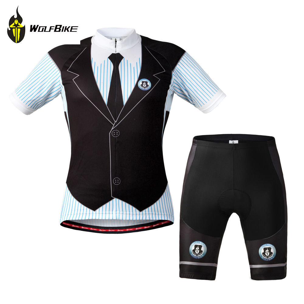 WOLFBIKE black forest bike riding/Summer cycling suits with short sleeves/Bicycle clothing/3D Gel Padded Cycling Shorts/M-XXXL<br><br>Aliexpress