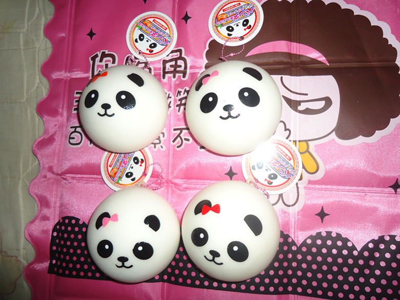 20pcs 7cm Jumbo panda bun squishy with tags