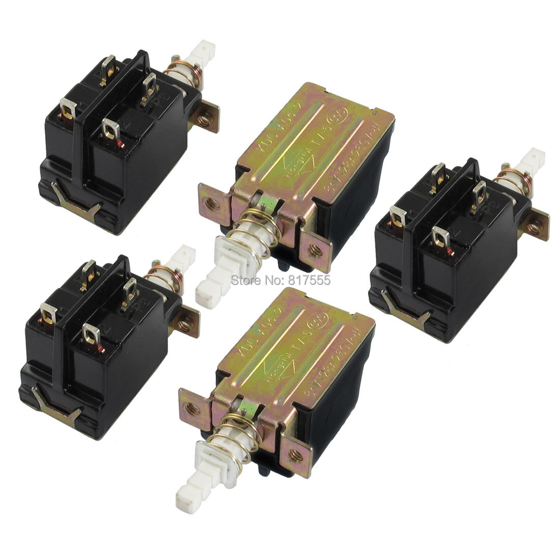 AC 250V 8 Amp 8A 4 Pin DPST Self Locking Solder PCB Pushbutton Power Switch 5 Pcs/lot Discount 50 Size 47 x 26 x 25mm (L*W*T)(China (Mainland))