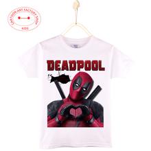 2016 New Children Casual Clothes Summer Deadpool T-Shirt  Kids O-Neck Girls Tops Cotton 3D Print Boys Shirt 4T-12T Free Shipping