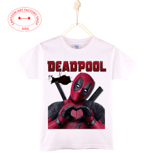 2016 New Children Casual Clothes Summer Miracle People T-Shirt Kids Dead Pool Girl Tops Cotton Boy Shirts 4T-12T Free Shipping
