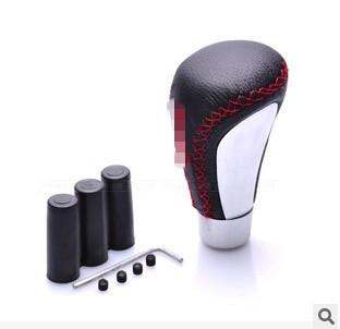 Utility models leather gear shift knob gear stick head gear head for MOMO manual transmission gear shift knob Universal()