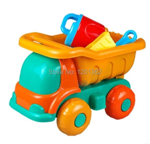 Summer Plastic Dump Truck Shovel Rake Sieve Mould Baby Children Sand Beach Toy Outdoor Play Game 9PCS/Set(China (Mainland))