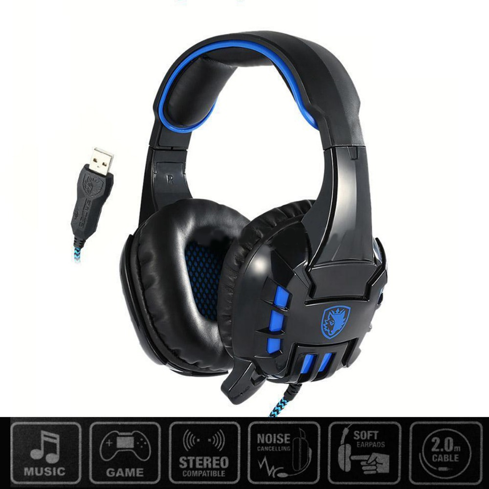 New SADES SA718S USB Game Gaming Headphone Vibration 7.1 Surround Sound Effect W/ Mic Free Shipping<br><br>Aliexpress
