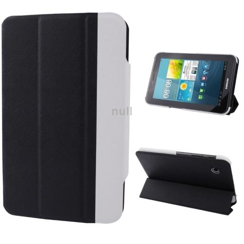 Гаджет  Black 2-color Series Cross Texture Horizontal Flip Leather Case Holder for Samsung Galaxy Tab 2 (7.0) / P3100 Free Shipping None Изготовление под заказ