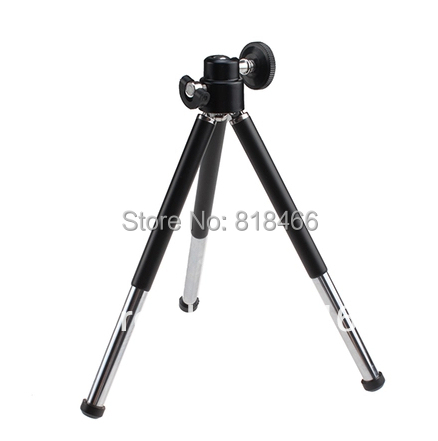 Free shipping 1pcs black Mini Tripod Aluminum Metal Lightweight Tripod Stand Mount For Digital Camera Webcam Phone DV Tripod(China (Mainland))