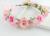 Light peach color Bouquet Flower Crown Hairband Tiara Wedding Party Hair Accessories wedding hair accessories bridal Headpiece
