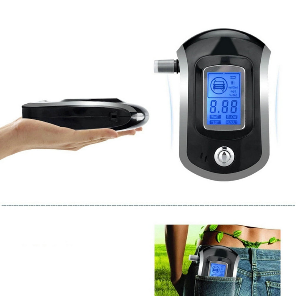 2015 Professional Mini Police Digital LCD Screen Breath Alkohol Alcohol Tester Breathalyzer AT6000 Bafometro Alcoholimetro #(China (Mainland))
