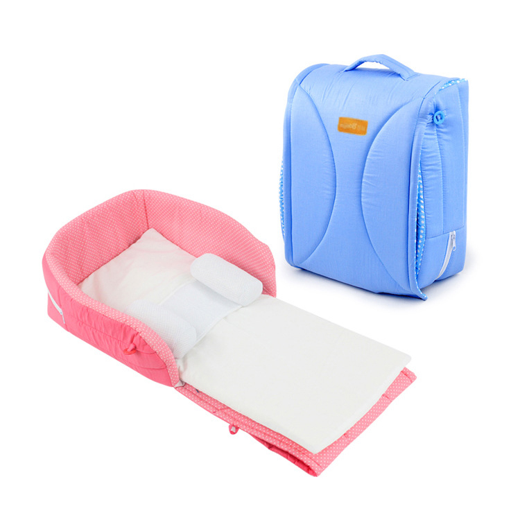 Baby's Folding Bed : Portable Folding baby bed crib baby bed with pillow bed Multifunction ...