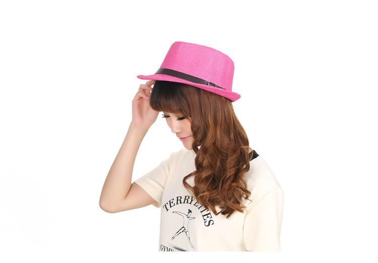 Сан-сиро новый 2016 мода мужчины женщины мужская плед полосатый шляпу 57 см один размер летом свободного покроя для взрослых пляжу шапка панама солнце соломенная шляпа