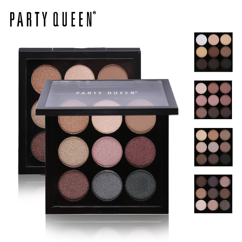 Party Queen New 9 Artist Eye Shadow Palette Shimmer Matte Pigment Earth Color Shadow Kit Naked Makeup Smooth Glitter Eyeshadow(China (Mainland))