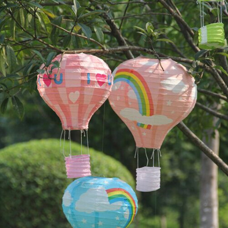 10Pcs 14inch 35cm multicolor Paper Chinese wishing lantern hot air balloon Fire Sky lantern for New Year decoration supplies(China (Mainland))