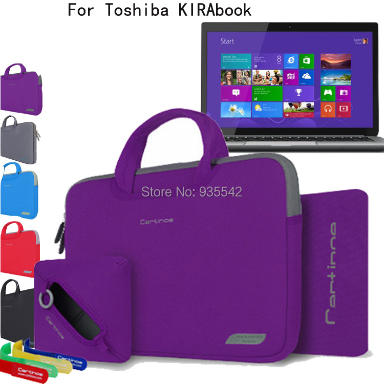 For Toshiba KIRAbook 13 i7 /i5 13.3'' TouchScreen Laptop 4in1 Computer Portable Cotton Fabric Handle Carrying Sleeve Case(China (Mainland))