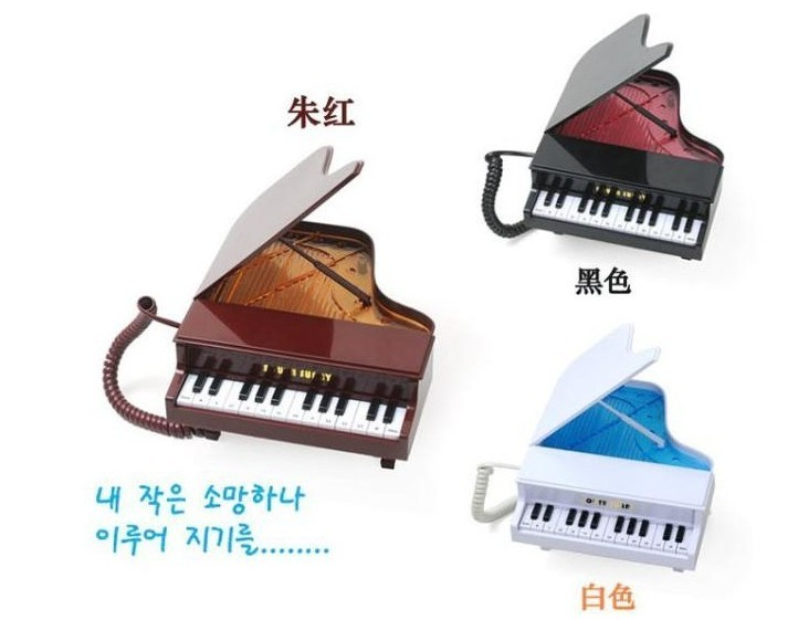 New Hot Selling Piano Telephone Fashion Phone Led Lighting Corded Phone Piano Music Box Telephone Home Phone(China (Mainland))