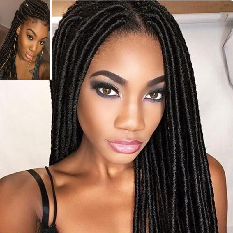 Eunice Dreadlocks Hairstyles 14 18 Faux Locs Crochet Hair Dreadlocs Braid Hair Extentions font b Janet