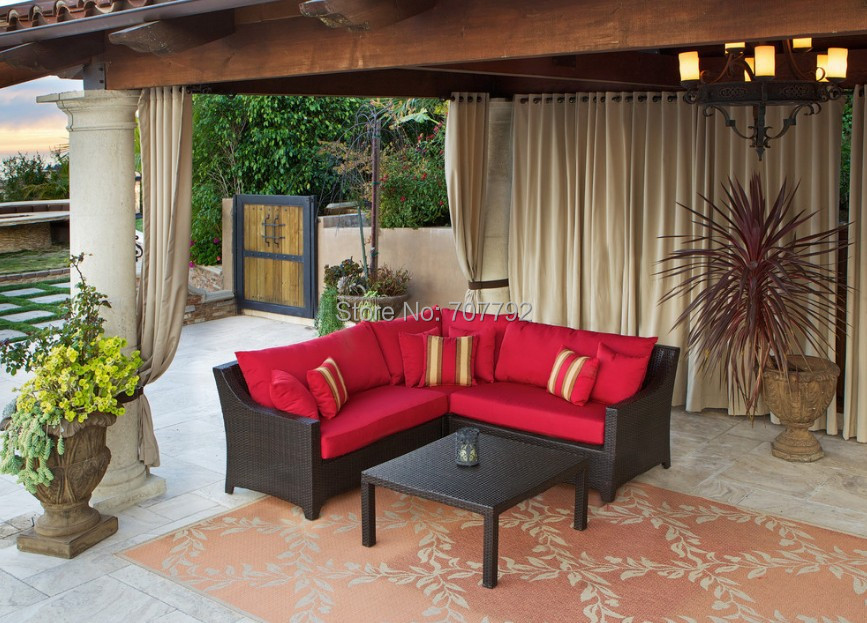 2015 New Product Outdoor rattan Furniture 4 seater Corner sofa set(China (Mainland))