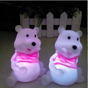 1PCS/LOT New Animal Lighting Toys Bear LED Baby Night Lights Cartoon Lamp Kids Room Light Party Home Decorative Gift(China (Mainland))
