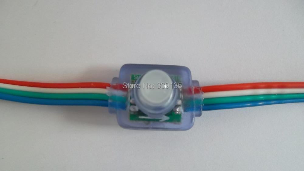 IP67 flat back Waterproof Square Shape WS2801 led pixel module light, 5node string, DC5V input - COOL LED Strore store
