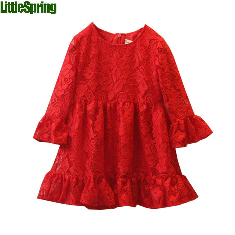 summer style childen dresses girls lace party wear kids dress clothing - baby_mart store