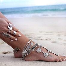Богемные браслеты на ногу для женщин летние пляжные украшения Модные Морская звезда двухслойная цепочка браслет на ногу Boho Лидер продаж(China)