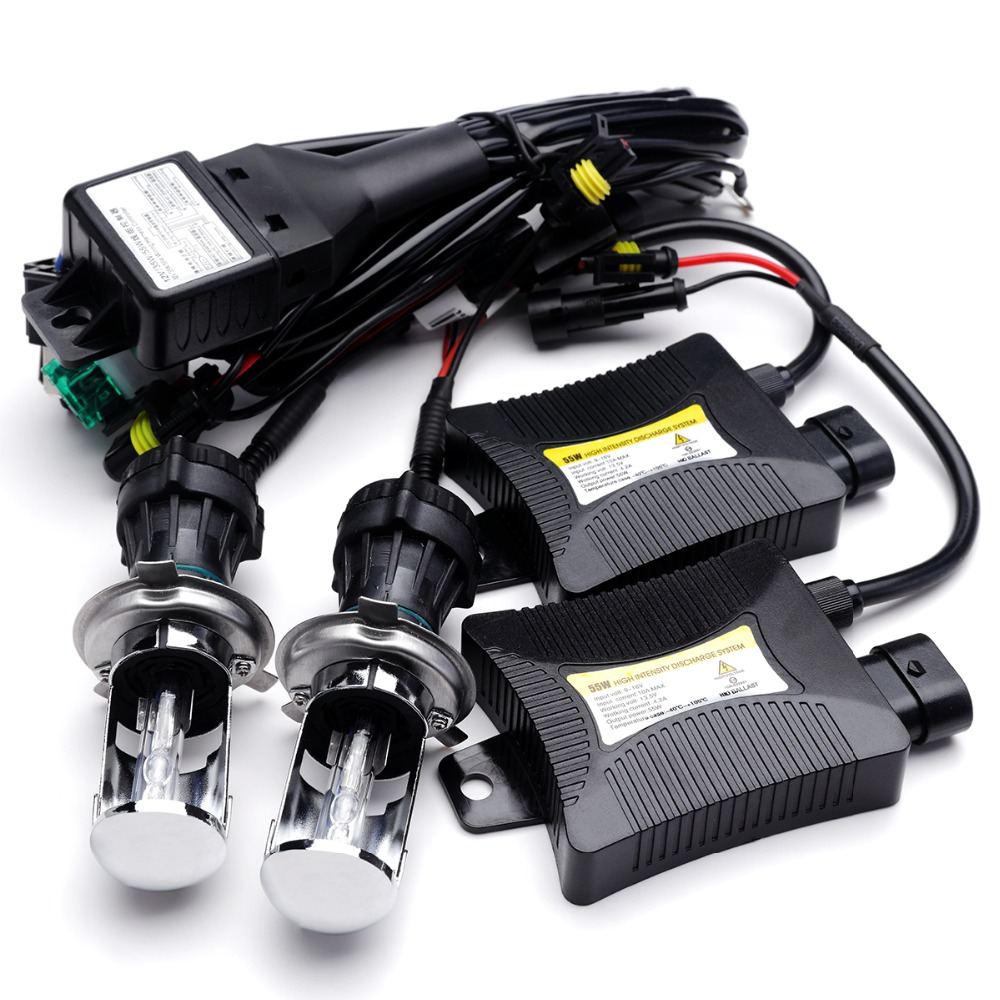 H4-3 bi-xenon H4 bi xenon 55w bixenon hid kit h4 high low h4 Hi Lo hid Kit 5000k 6000k 8000k 4300k 12000k for Car Headlights