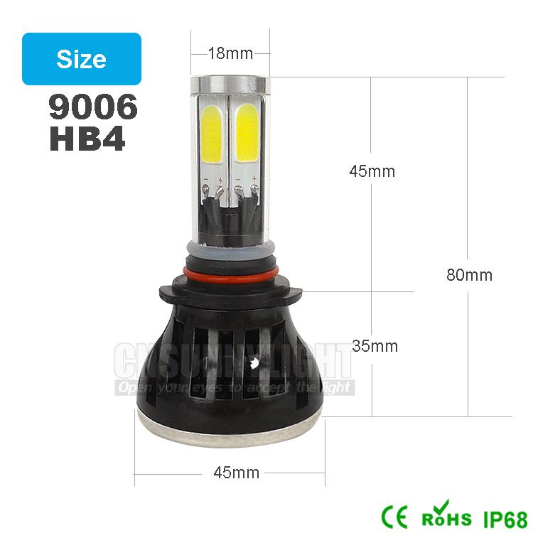H4 H7 H13 H11 H1 9005 9006 COB LED Headlight 80W 8000LM Super Brigh Car LED Headlights Bulb Head Lamp Fog Light Pure White 6000K (9)