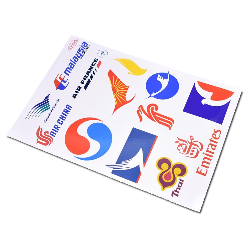 Airline design car decals,waterproof vinyl sticker on cars/trucks/laptops/refrigerator/windows/doors/luggage(China (Mainland))