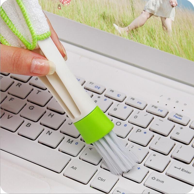 2016 New Pocket Brush Keyboard Dust Collector Air-condition Cleaner Computer Clean Tools Window Leaves Blinds Cleaner Duster(China (Mainland))