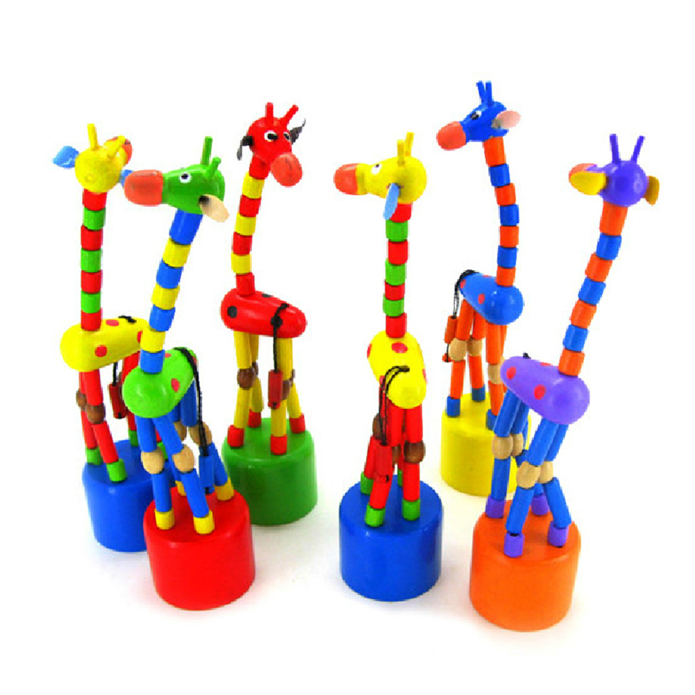 New Arrival Baby Kids Wooden Toys Developmental Dancing Standing Rocking Giraffe Gift Toys Multi Color(China (Mainland))
