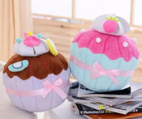 Gift for baby 1pc 35cm cartoon ice cream color sweet cake dessert plush hold pillow novelty creative girl stuffed toy<br><br>Aliexpress