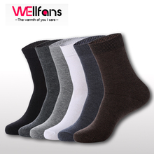 10 pieces=5 pairs/lot Quality Bamboo Men's Breathable Socks Classic Business Brand 100% Cotton Man Socks Winter Thermal Socks (China (Mainland))