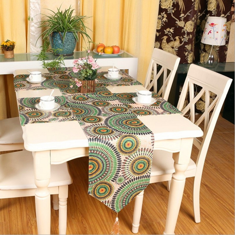 European classical style embroidery table flag Modern fashion Rural pattern table runner for table/bed/tea table use Q81(China (Mainland))