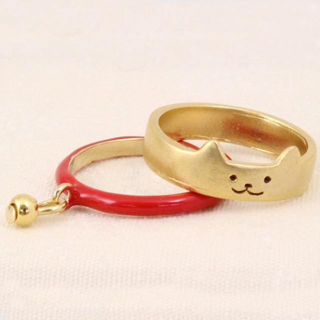 Кольца 2 шт. новинка позолоченные вырезать кошка с подвески прекрасный Boho металл ...