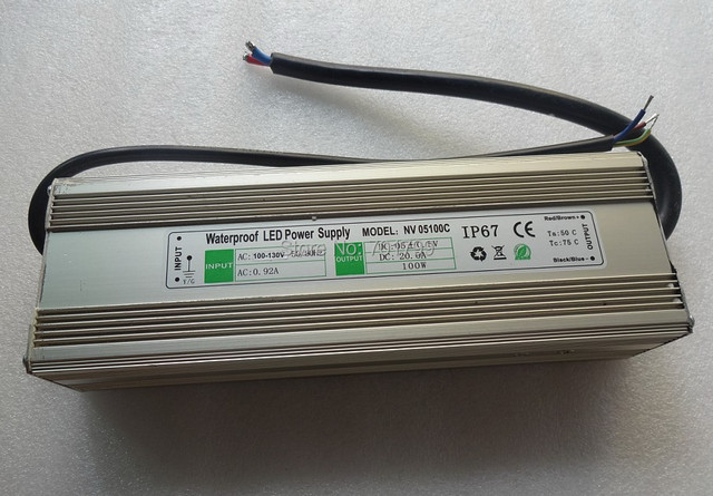 5V/100W waterproof led power supply;110V/220 input;IP68;CE and ROHS;