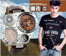 Caliente la venta 2014 ocasionales de moda oulm relojes hombres lujo marca analog deportes reloj militar alta calidad cuarzo relogio masculino