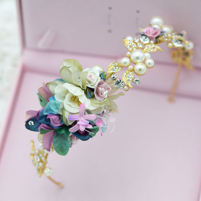 The bride accessories alloy pearl hair bands marriage yarn hair accessory accessories vintage hair accessory<br><br>Aliexpress