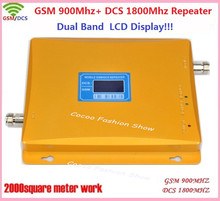 900 /1800mhz dual band mobile signal booster+LCD display !!! cell phone GSM DCS dual band signal repeater,GSM signal amplifier(China (Mainland))