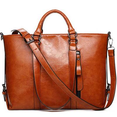 2015 New Fashion Woman Leather Handbag Vintage Women Messemger Bags Shoulder Bag Brand Crossbody Bag Ladies Leather Tote Bolsas(China (Mainland))