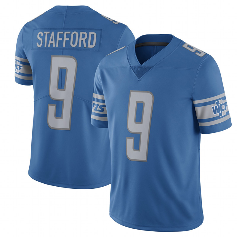 9 Matthew Stafford Jersey Men's Adult Embroidery Stitched 22017 Retired Player Limited Jersey(China (Mainland))