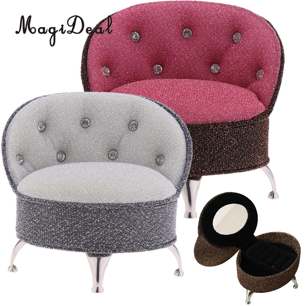 1/6 European Styled Sofa Chair Doll House Miniature Furniture for Action Figure Dolls Acc Life Scene Decor Pretend Play Toys