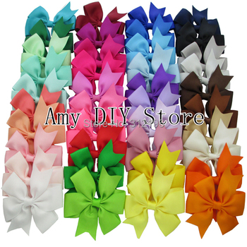 Free Shipping!40pcs/lot NEW 40Colors Grosgrain Ribbon Pinwheel Bows WITHOUT Clip,Baby Girls' Hair Accessories Boutique Hair Bows