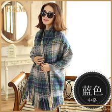 Amazing new collection wool blend blanket wrap scarf women scarves winter plaid tartan oversized pashmina