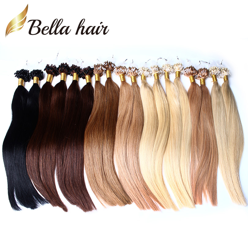 Virgin Indian Remy Micro Loop Hair Extensions Remy Indian Hair