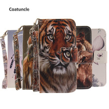 """Buy Phone Case Apple iPhone 7 7G 4.7"""" Wolf owl tiger Painted Flip Cover PU Leather Wallet Card slot Stand Coque iPhone7 for $3.49 in AliExpress store"""
