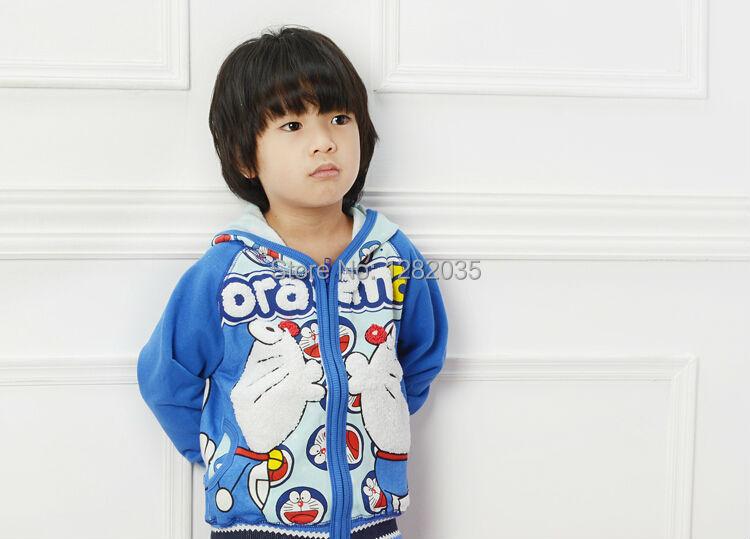 free shipping 2015 casual fashion children kids outerwear boys girls cartoon coats font b Doraemon b