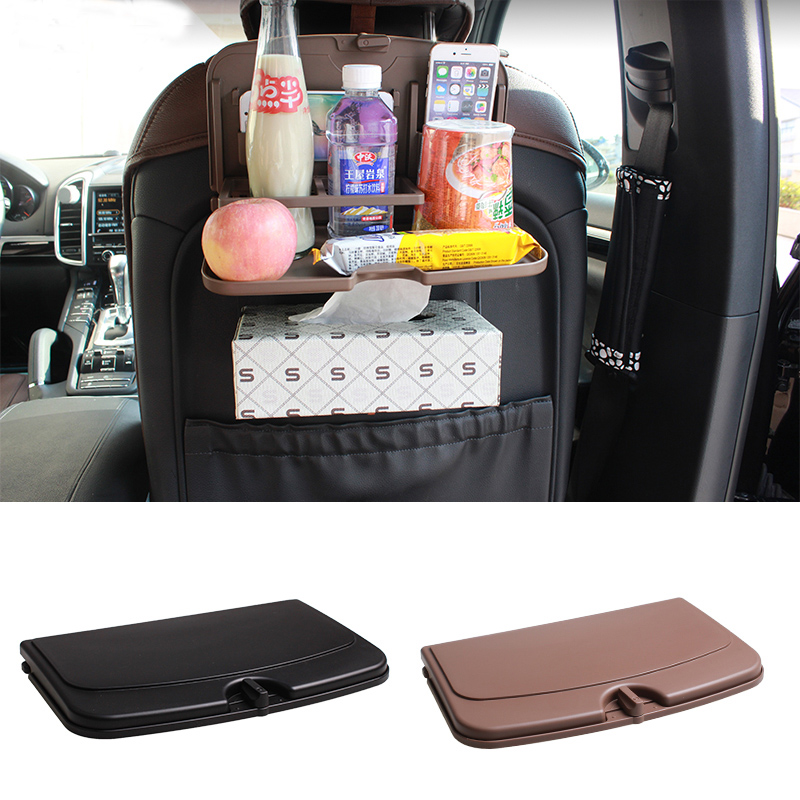 Car folding travel tray Drink Phone cup holder Seat back table support gobelet Foldable Black brown organizer Auto accessories(China (Mainland))