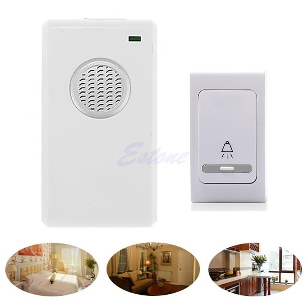 Гаджет  Free Shipping 38 Tune Song LED Wireless Digital Receiver Doorbell Remote Control Chime US Plug None Аппаратные средства
