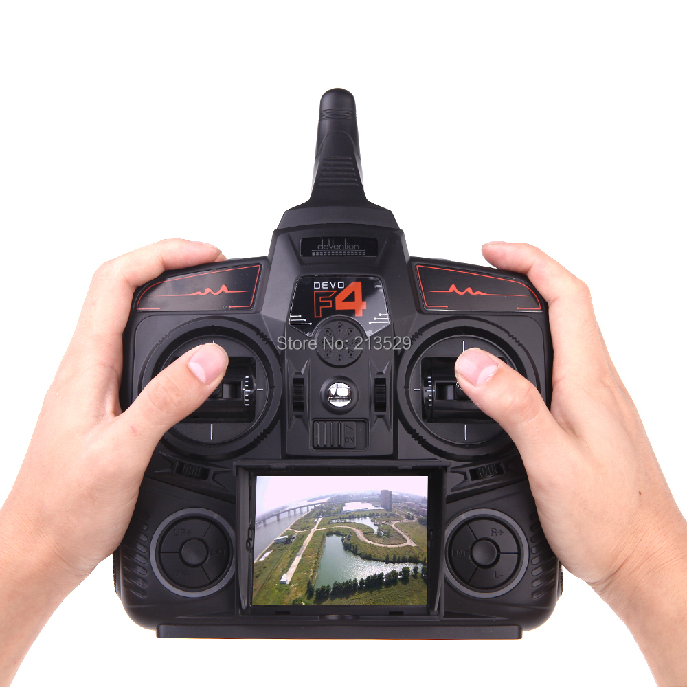 Walkera DEVO F4 2.4G 4CH FPV Transmitter LCD 5.8G Live Video Remote Radio Control <br><br>Aliexpress