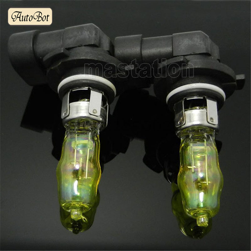 2 x 9005 HB3 12V 4300K 65W Golden Yellow Auto Car HOD Halogen Bulbs Lamps Headlight Bulbs for kia lada skoda hyundai cruze(China (Mainland))